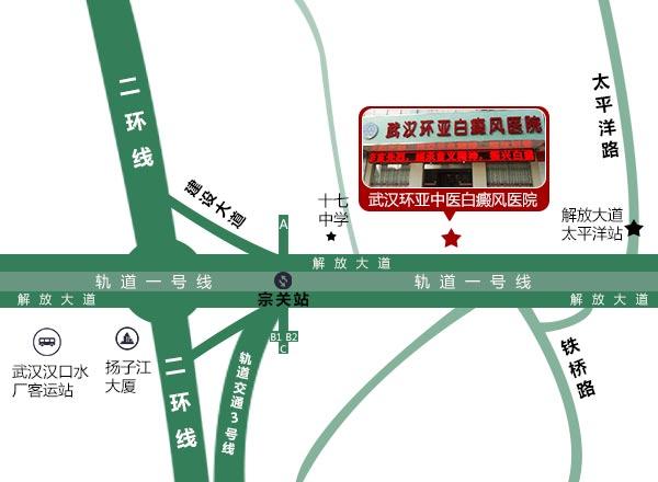 武汉环亚白癜风医院来院路线